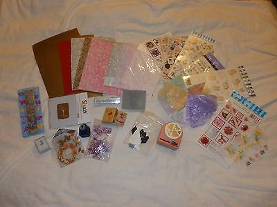Scrapbooking clearout bundle paper punches, card, rub ons etc