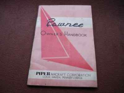 1962 Original Pied Piper Pawnee Aircraft Owners Handbook