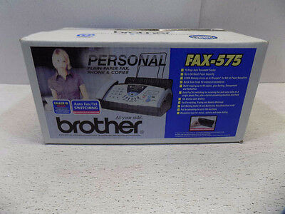 Brother B/w Personal Phone Fax Copier Fax-575 New