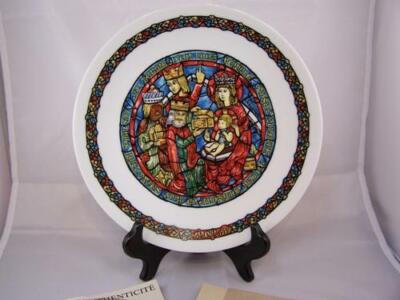 NOEL VITRAIL(Christmas Stained Glass)1979 Collector Plate,The Adoration of Kings