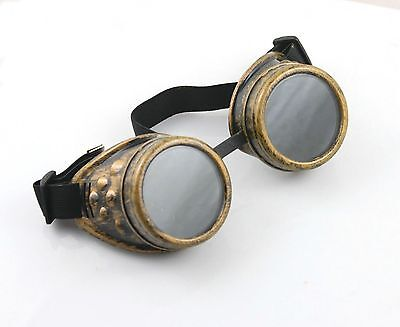 LOL Ezreal Cyber GOGGLES Steampunk Welding Goth Cosplay Vintage GOGGLES Rustic