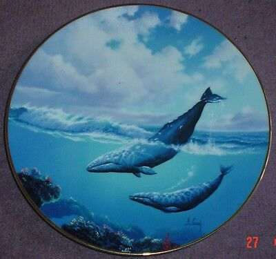 W S George Fine China Collectors Plate TRAVELER OF THE SEA Whale