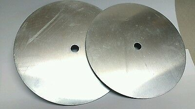 "6"" Aluminum Disc, Clock Circle with center hole, 2 in set, Clock Face Rounds"