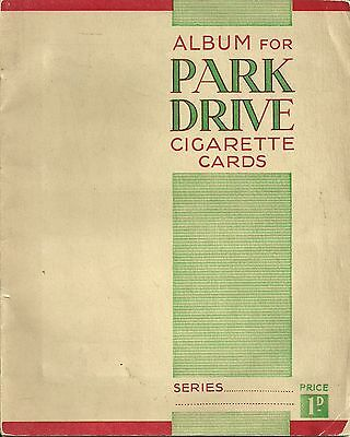 Park Drive Cigarette Card Album