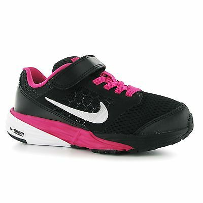 Nike Tri Fusion Running Trainers Junior Girls Blk/Silv/Pnk Sports Shoes Sneakers