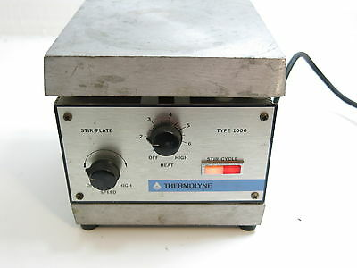 Thermolyne Heated Stir Plate Type 1000 Sp-A1025B Rated 7.3 Amps, 120V, 865 Watts