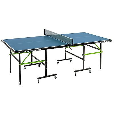Dunlop Junior Playback Indoor Folding Family Ping Pong Table Tennis Table - Blue
