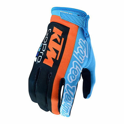 2017 Troy Lee Designs TLD Team Licensed KTM Air Gloves Navy / Cyan MX ATV Moto