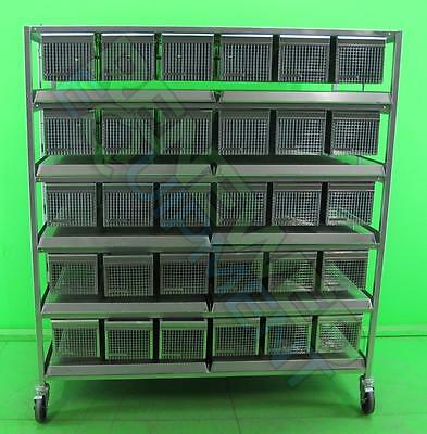 Lab Products 60 Unit mice Mouse  Stainless Steel Rack Cage Caging no feeders
