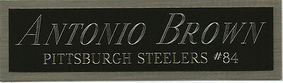 Antonio Brown Steelers Nameplate Autographed Signed Football Helmet Jersey Photo