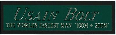 USAIN BOLT NAMEPLATE for AUTOGRAPHED Signed PHOTO-JERSEY-BOOK-SI-CAP-SHOES-FLAG