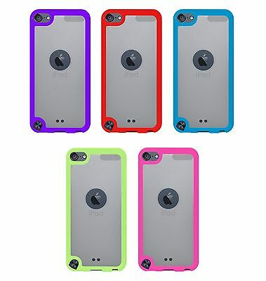 For iPod Touch 5th & 6th Gen - Hard & Soft Rubber Hybrid Rugged Case