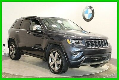2015 Jeep Grand Cherokee Limited NAVIGATION SYSTEM REAR-VIEW CAMERA MOONROO 2015 Jeep Grand Cherokee Gray SUV 4WD