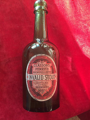 Glassons of Penrith beer bottle with original label
