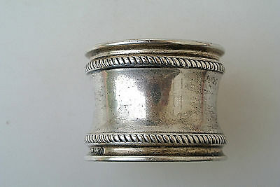 Vintage Sterling Silver Round Twisted Rope Napkin Ring No Mono