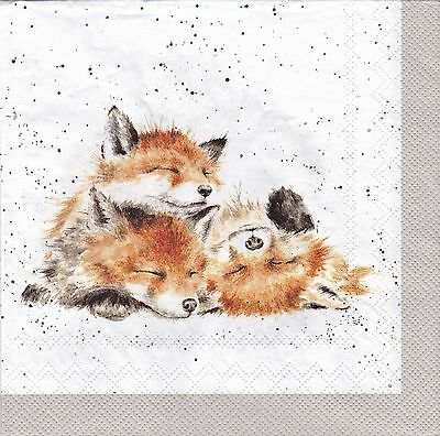 Wrendale Country Set Paper Napkins Mr Fox