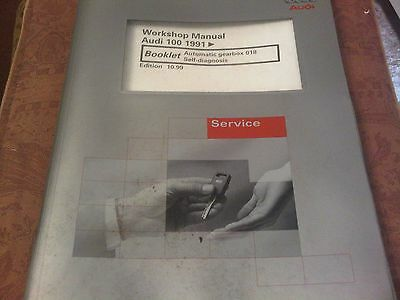 Audi 100 1991 on Workshop Manual automatic gearbox 018 self diagnosis 1999 edn