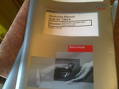 Audi A8 Workshop Manual 1994 on automatic gearbox 018 self diagnosis 1999 edn