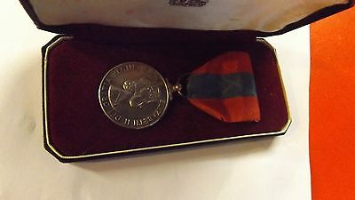 Vintage IMPERIAL SERVICE MEDAL & Ribbon In Original Box CHARLES HECTOR GOODWILL