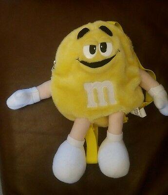 M&M small yellow backpack bag