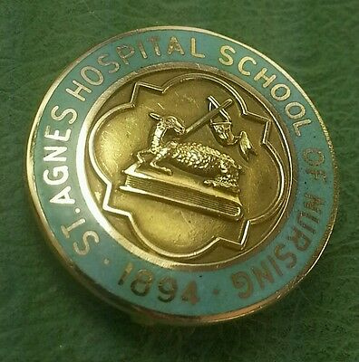 10k Antique 1894 St. Agnes School of nursing 10k pin or tac MD Doc Rx