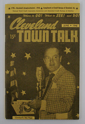 Vintage June 1946 CLEVELAND TOWN TALK Magazine Booklet Publication