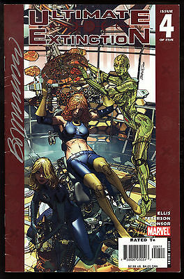 Ultimate Extinction (2006) #4 First Printing Signed by Brandon Peterson Art FN