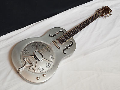 GOLD TONE GRE ELECTRIC metal-body round-neck RESONATOR slide GUITAR new