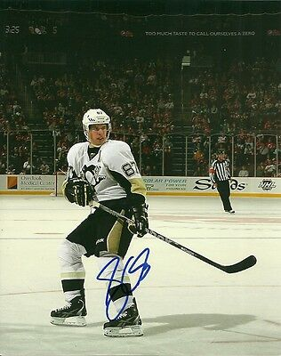 SIDNEY CROSBY SIGNED PITTSBURGH PENGUINS 8x10 PHOTO #1 Autograph