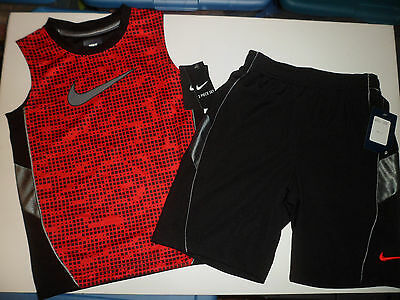 NWT New Nike Logo Boys Kids Summer Outfit Shirt Shorts 2 pc Set Clothes Size 5/6