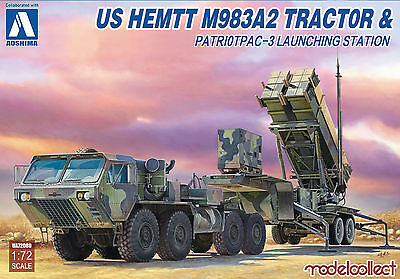 MODELCOLLECT UA72080 US HEMIT M983A2 Tractor & Patriot PAC-3 in 1:72