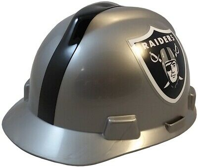 f2e79b15f NFL Oakland Raiders Hard Hat with Ratchet Suspension - MSA Brand Team Hat