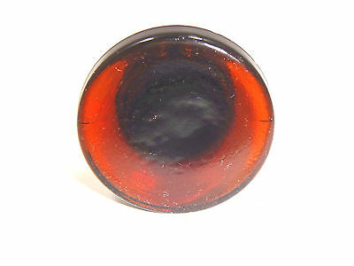 "Round AMBER BOTTLE STOPPER  1.25"" Dia.   1.50 Tall"
