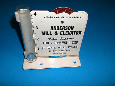 Vintage Advertising RAIN GAUGE Anderson Mill & Elevator Deer Creek Rd Penna.