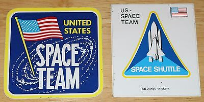 2 x US Space Team Stickers Space Shuttle