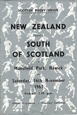 1963 SOUTH OF SCOTLAND v NEW ZEALAND, AT HAWICK