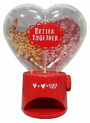 HALLMARK Dual Chamber HEART SHAPED DISPENSER For Candy/Snacks VALENTINES DAY