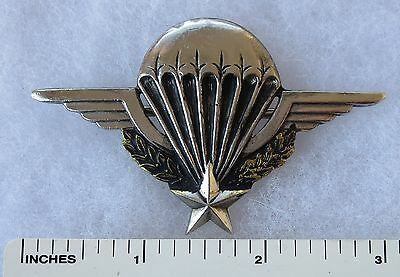 Vintage FRENCH MILITARY AIRBORNE PARACHUTE PARA WINGS BADGE Numbered