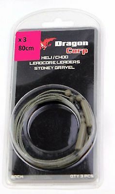Dragon Carp Fishing Heli / Chod leadcore Leaders   Stoney Gravel x 3   NE