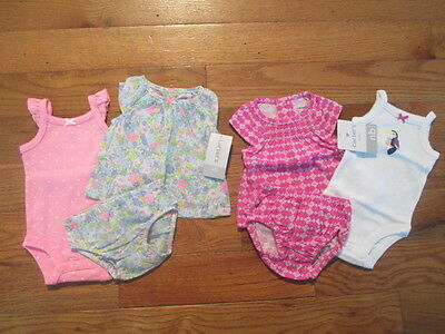 6 piece LOT of Baby Girl Spring/Summer clothes size Newborn NWT