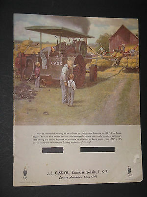 History of Case Steam Tractors 1964 Advertising Brochure