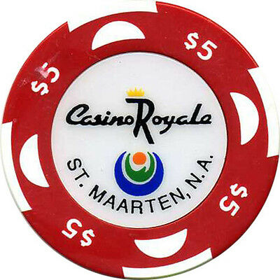 CASINO ROYALE $5 Casino Chip St Maartens Caribbean