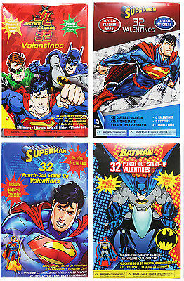 DC COMICS* Various Characters VALENTINES DAY Cards+Extras FOR BOYS *YOU CHOOSE*
