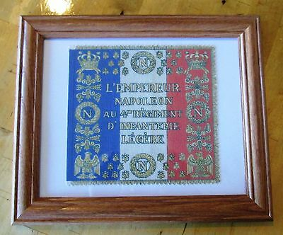Napoleonic Wars. Napoleon Bonaparte Flag...France, French Flag, 4th Regiment