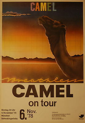 Camel Concert Tour Poster 1978 Breathless