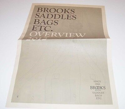 2012 Brooks Overview - Bicycle Saddles, Bags, Etc. Catalog - Large Tabloid Size