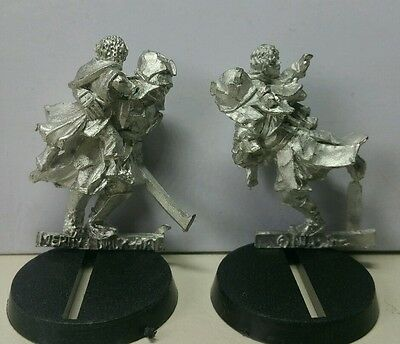 URUK-HAI carrying away Merry & Pippin MINT metal models LOTR The Hobbit Rare OOP