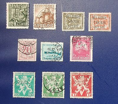 BELGIUM - 1944 -1952 Collection of Used & MH Stamps