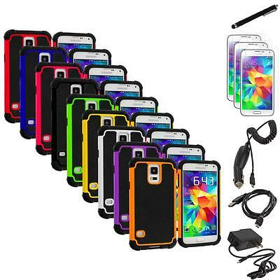 For Samsung Galaxy S5 Hybrid Shockproof Rugged Case Cover+7X Accessories