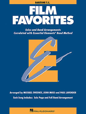 Film Favorites Baritone T.C. Essential Elements Band Method Sheet Music Book NEW